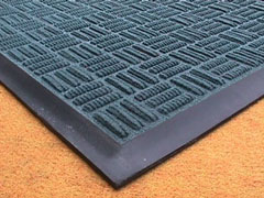 Black rubber with  coloured carpet