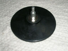 Rubber spindle pad