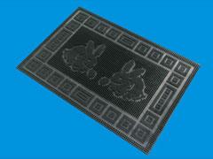 Rabbit  pattern brushmat