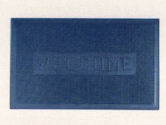 Heavy duty Welcome Mat blue