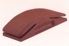Rubber block for sanding paper